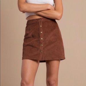 Tobi Corduroy Button Up Skirt